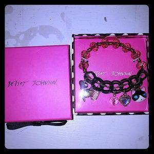 Betsey Johnson cat charm bracelet NEW